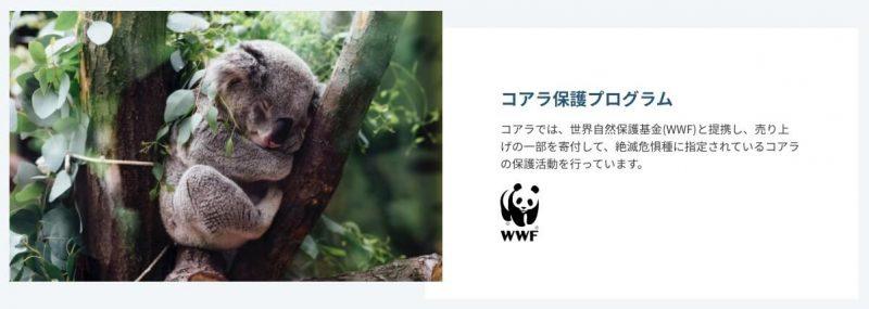 特徴⑧:コアラ保護プログラム
